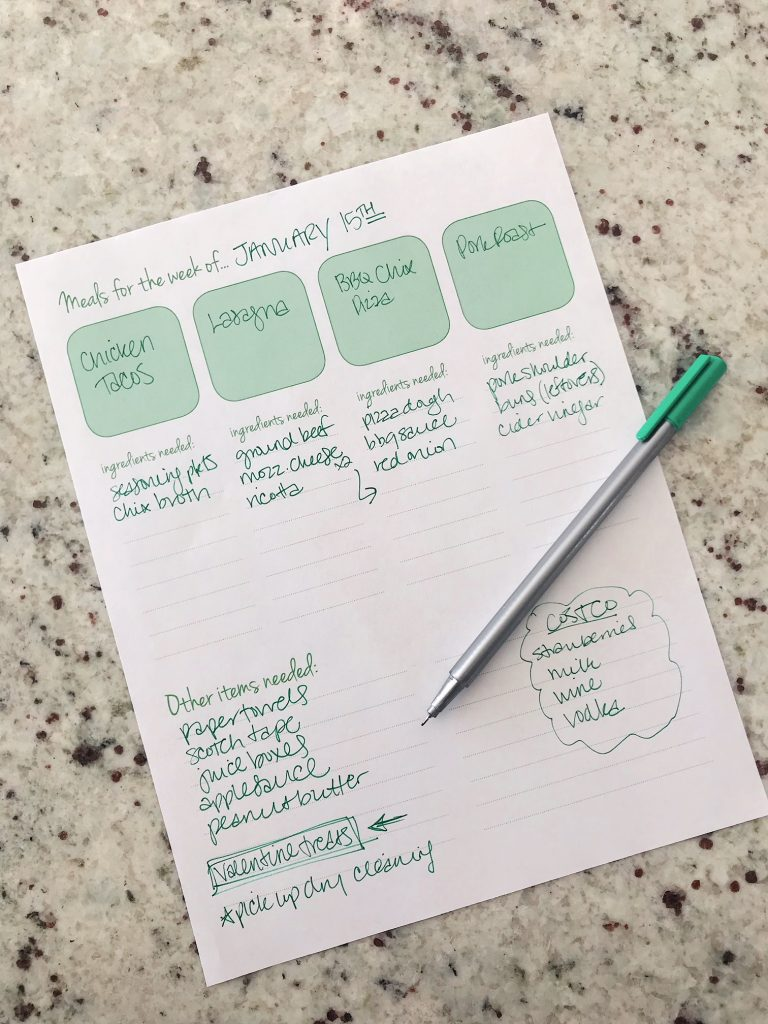 Meal Planner Free Printable   29thandDelight.com
