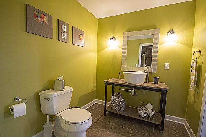 DIY Bathroom: Our First House Basement Finish | 29thandDelight.com