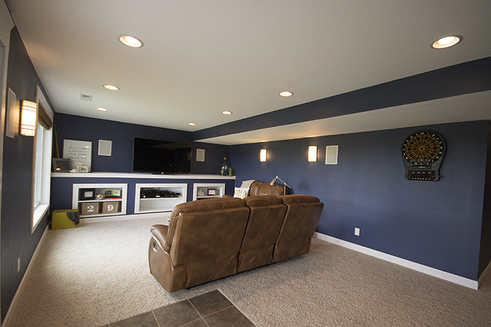 DIY Built Ins: Our First House Basement Finish | 29thandDelight.com