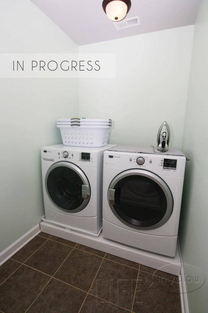 laundry in progress