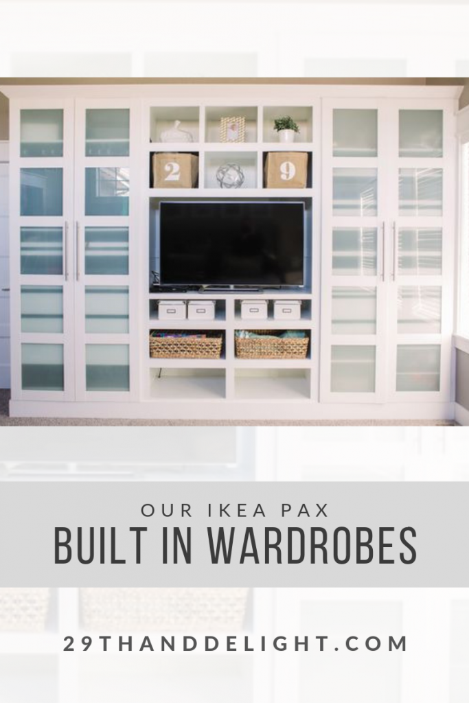 built in IKEA wardrobes | 29thanddelight.com