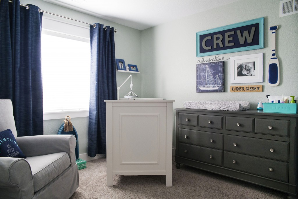 crew's nautical nursery | www.29thanddelight.com