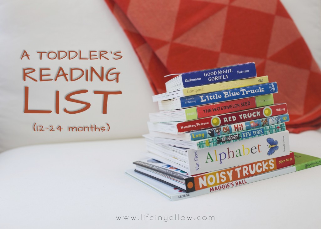 Toddlers Reading List | 29thanddelight.com