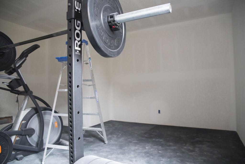 gym drywalled