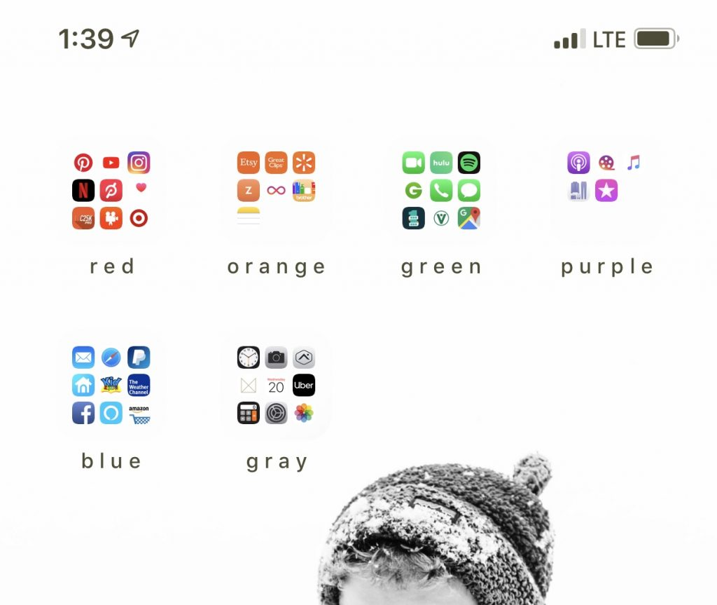 iphone app color coding organization | 29thanddelight.com